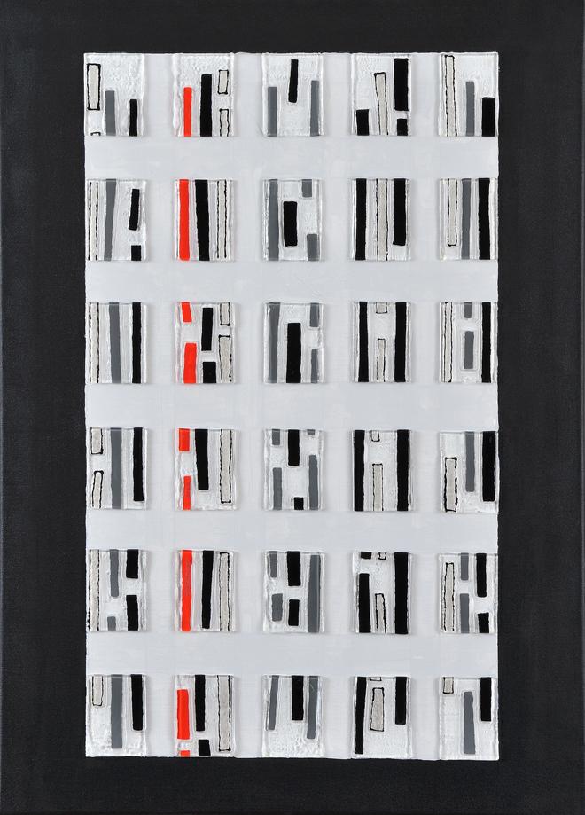 LA LIGNE ROUGE - 2014 - 65 X 50 cm